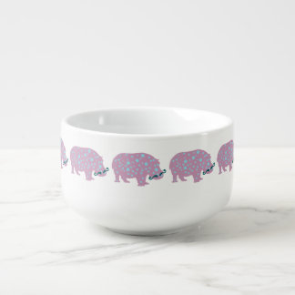 Hippopotamus-Hipster-Suppen-Tasse Große Suppentasse