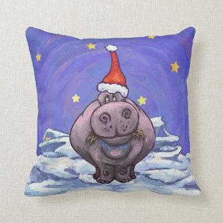 Hippopotamus-Weihnachten Kissen