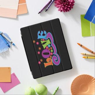 Hippy Blumen-Power-Liebe-Wort-Kunst-bunter Entwurf iPad Hülle