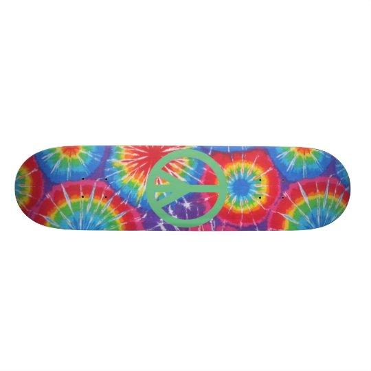 Hippy Friedensgefärbte KrawatteSkateboard Individuelles Deck