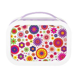 Hippy Regenbogen-Blumen Brotdose