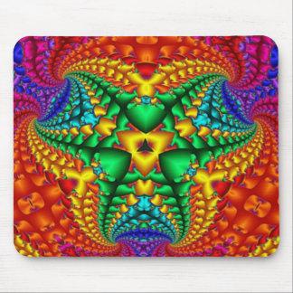 Hippy Regenbogen-psychedelisches Fraktal Mauspad