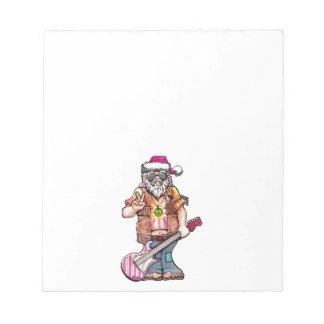 """Hippy Sankt sagt """"cooles Weihnachten """" Notizblock"""