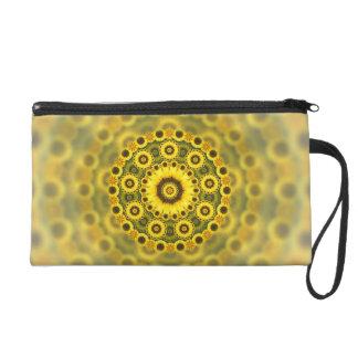 Hippy Sonnenblume-Fraktalmandala-Muster Wristlet