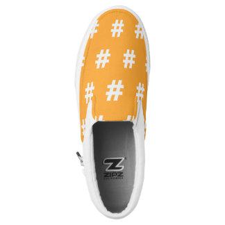 Hipstar Hashtag orange Slipon Turnschuh Slip-On Sneaker