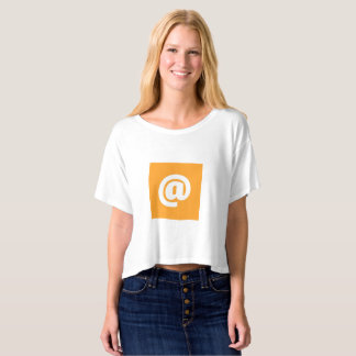 Hipstar @ orange Boxy Ernte-Spitzen-T - Shirt