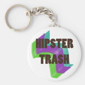 Hipster-Abfall Keychain Standard Runder Schlüsselanhänger