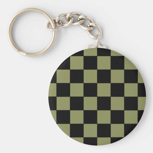 Hipster-Armee-Grün-Schachbrett-Schachbrett Schlüsselband