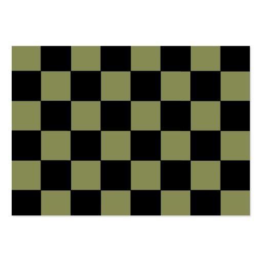 Hipster-Armee-Grün-Schachbrett-Schachbrett Visitenkarten Vorlagen