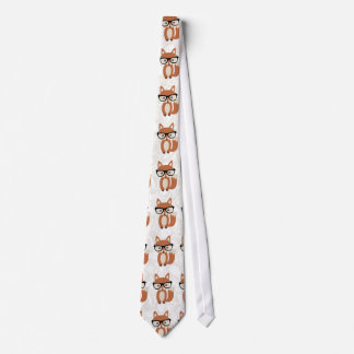 Hipster-BabyFox w/Glasses Bedruckte Krawatten