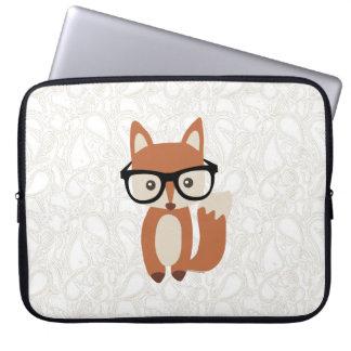 Hipster-BabyFox w/Glasses Laptop Sleeve