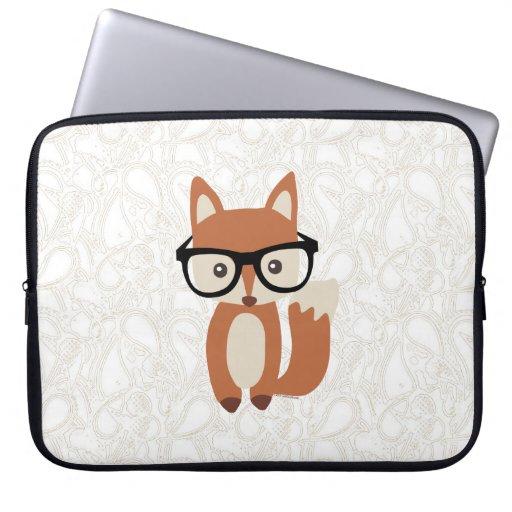 Hipster-BabyFox w/Glasses Computer Schutzhülle