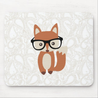 Hipster-BabyFox w/Glasses Mousepads