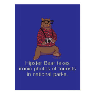 Hipster-Bärn-Postkarte Postkarte