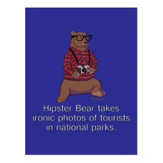 Hipster-Bärn-Postkarte Postkarten