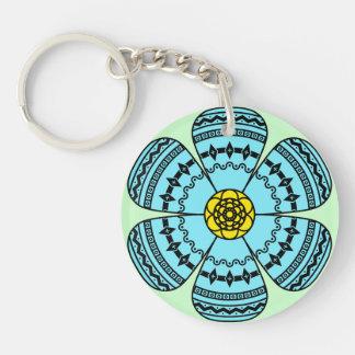 Hipster-Blumen-Acryl Keychain Einseitiger Runder Acryl Schlüsselanhänger
