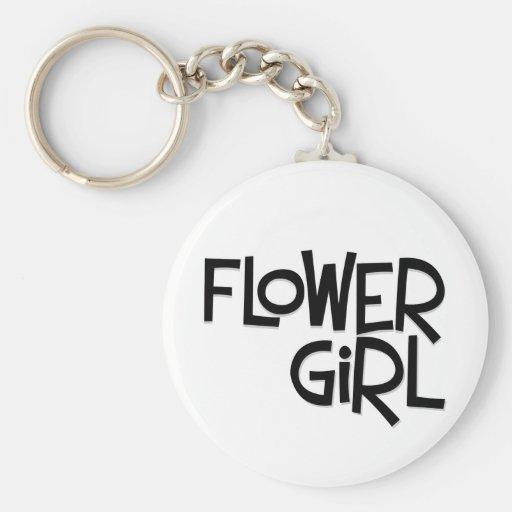 Hipster-Blumen-Mädchen Schlüsselanhänger