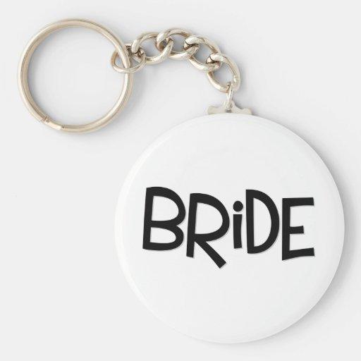 Hipster-Braut Schlüsselbänder