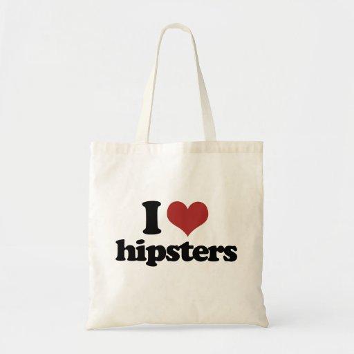 Hipster des Herzens I Einkaufstaschen