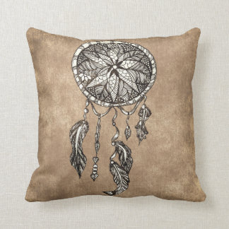 Hipster dreamcatcher feathers vintage paper