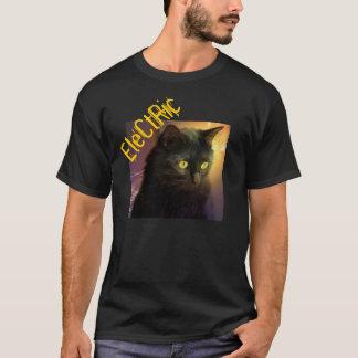 """Hipster-""""elektrisches"""" Katzen-Shirt T-Shirt"""
