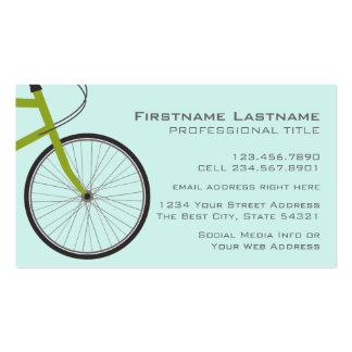 Hipster-Fahrrad-Rad mit individuellem Namen Visitenkarten