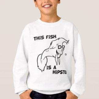 Hipster-Fische Sweatshirt