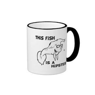 Hipster-Fische Tee Tasse