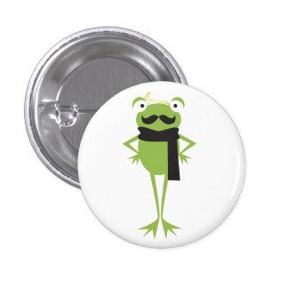 Hipster-Frosch Runder Button 2,5 Cm
