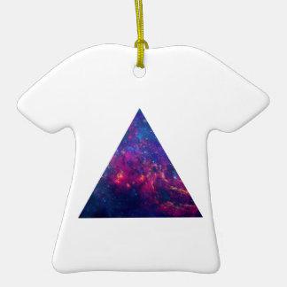 Hipster-Galaxie-Dreieck-T-Shirt Verzierung Weihnachtsornament