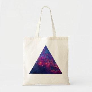 Hipster-Galaxie/Raum-Dreieck Budget Stoffbeutel