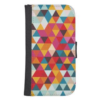 Hipster-geometrisches Dreieck-Muster - Samsung S4 Geldbeutel Hülle