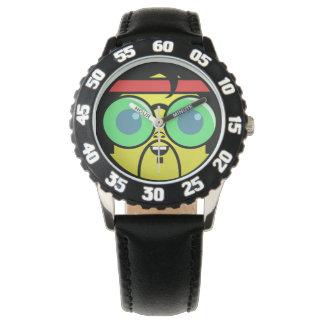 Hipster-Gesicht Uhr