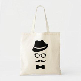 Hipster-Gesichts-Budget-Tasche Budget Stoffbeutel