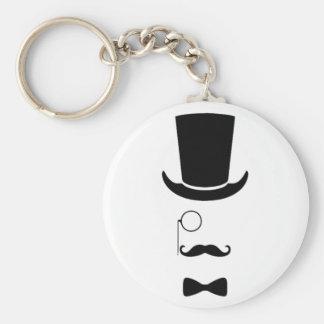 Hipster-Gesichts-Knopf Keychain Standard Runder Schlüsselanhänger