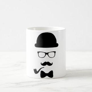 Hipster-Gesichts-Tasse Tasse