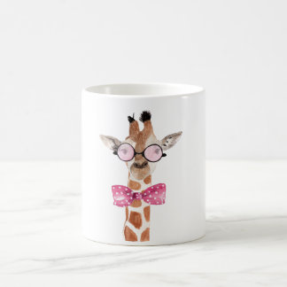 Hipster Girafe T - Shirt Tasse