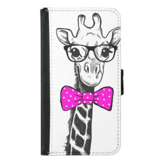 Hipster-Giraffe Geldbeutel Hülle Für Das Samsung Galaxy S5