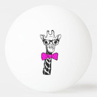 Hipster-Giraffe Ping-Pong Ball