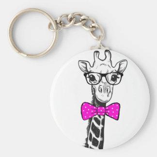Hipster-Giraffe Schlüsselanhänger