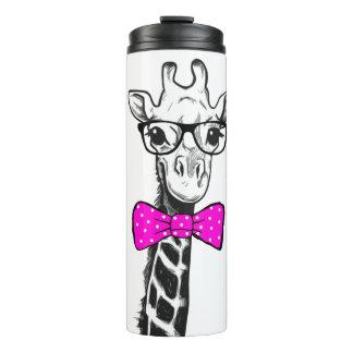 Hipster-Giraffe Thermosbecher