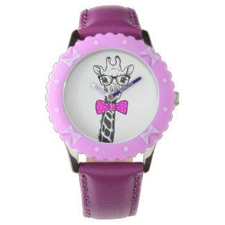 Hipster-Giraffe Uhr