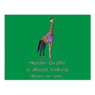 Hipster-Giraffen-Postkarte