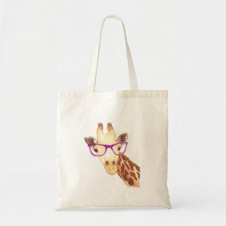 Hipster-Giraffen-Tasche Budget Stoffbeutel