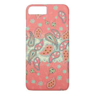 Hipster-Girly Paisley-Muster iPhone 7 Plusfall iPhone 8 Plus/7 Plus Hülle