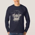 Hipster-Gorilla mit Gläsern Shirt