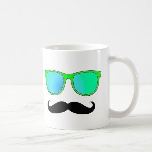 Hipster - Grün widergespiegelte Schatten Kaffeehaferl