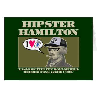 Hipster Hamilton Karte