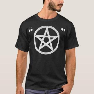 Hipster-heidnisches ironisches Pentagramm (weiß T-Shirt