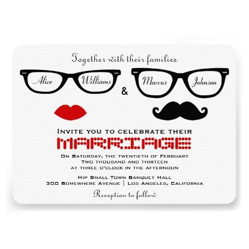 Hipster-Hochzeits-Einladung